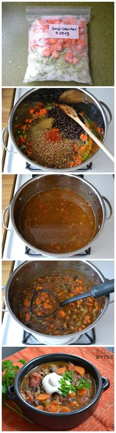 Clean Eating Chunky Lentil and Vegetable Soup