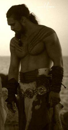 Jason Momoa as Kahl Drogo on Game of Thrones mmmmmmmm