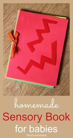 Homemade DIY sensory book for babies - simple to make instructions and a lovely gift.