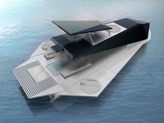 Origami Yacht (Millennium Yacht Design Award) by Fabio Federici _ Yacht Design, Boat Design, Origami Boat, Folding Boat, Floating Architecture, Float Your Boat, Yacht Interior, Cool Boats, Yachts