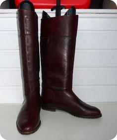 VINTAGE HUSH PUPPIES 70er Stiefel Leder Boots EU 41 UK 7,5 US 9,5 Reiterstiefel in Kleidung & Accessoires, Damenschuhe, Stiefel & Stiefeletten | eBay
