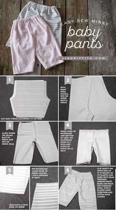 Most current No Cost sewing baby pants Ideas Easy Sew Baby Pants and Matching Hats - Lia Griffith Baby Sewing Projects, Sewing For Kids, Sewing Patterns Free, Baby Patterns, Pants Tutorial, Sweater Mittens, Baby Diaper Bags, Baby Pants, Pants Pattern
