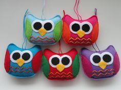 Felt Owl Christmas Ornament  Canada Flag Owl  Canadian  Owl