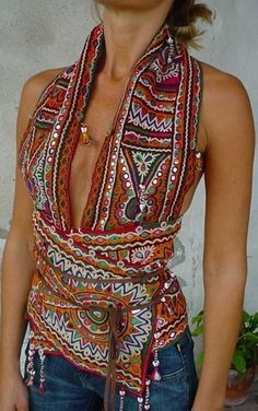 you could make this with a long scarf!