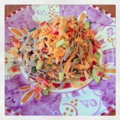 Foodolina: Rainbow Buckwheat Noodle Salad