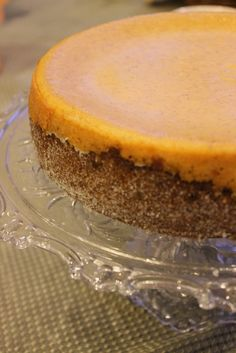 life according to me: Pumpkin Cheesecake with Gingersnap Crust