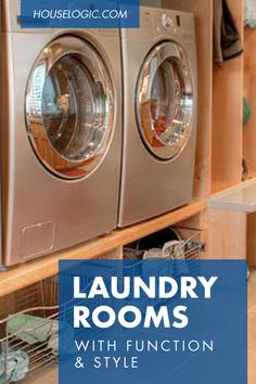 For laundry room design ideas that will help you organize and create storage space, check out these photos of functional and stylish laundry rooms.