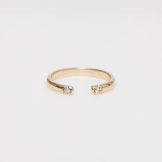 Jennie Kwon Half Round 2 Diamond Cuff Ring