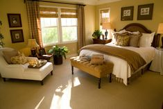 Bedroom featuring a warm, light brown tone. I love these colors this gives me warm fuzzys just looking at it.
