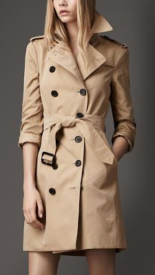 My new Burberry Trench - happy start of school year to me! *love* Is it cold outside yet?!