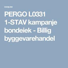 PERGO L0331 1-STAV kampanje bondeiek - Billig byggevarehandel