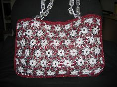Red and Silver Pull Tab Purse by Pop Top Lady, via Flickr