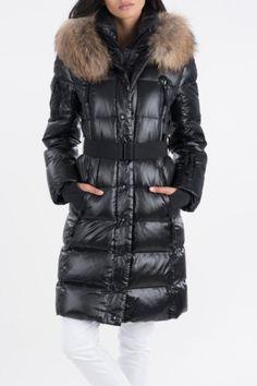 The Beautiful Infinity Jacket with a belt and raccoon fur trim hood.    Infinity Coat by Sam.. Clothing - Jackets, Coats & Blazers - Coats - Parkas & Puffers Toronto, Canada