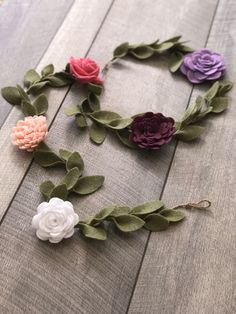 Rose Garland, Felt Garland, Flower Garlands, Flower Decorations, Hanging Flowers, Felt Flowers, Fabric Flowers, French Country Wall Decor, French Country Decorating