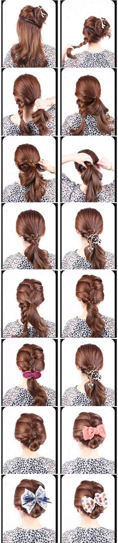 Wow, so many cute ways to do your hair!