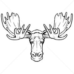 Gallery For Moose Head Clip Art