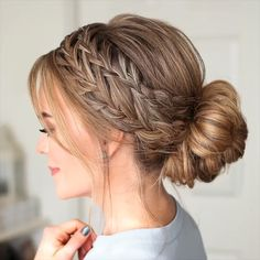 Bride Hairstyles, Easy Hairstyles, Waitress Hairstyles, Cool Girl Hairstyles, Braided Hairstyles For Short Hair, Hairstyles For Weddings, Hairstyle For Long Hair, Grecian Hairstyles, Interview Hairstyles