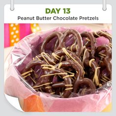 25 Days of Christmas Cheer :: Day 13 :: Peanut Butter Chocolate Pretzels Recipe from Taste of Home -- shared by Marcia Porch of Winter Park, Florida.