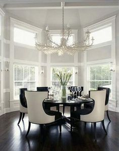 Formal Dining Room Round Table (32)
