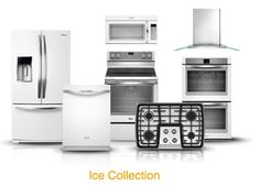 Whirlpool White Ice collection- sleek alternative to traditional white and stainless steel appliances