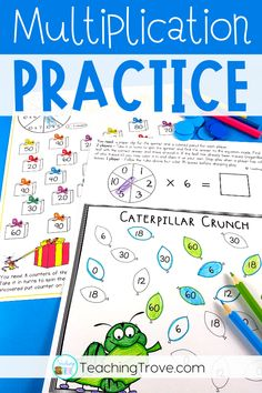 Multiplication games give students the fun practice they need to learn their multiplication facts. Perfect for small groups and math centers these math games consolidate the times tables from 1 - 12 Math Activities For Kids, Math Games, Guided Math Groups, Multiplication Practice, Math Numbers, Math Centers, Math Lessons, Fun Learning, English Language