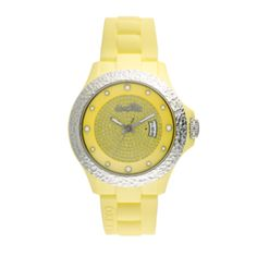 WATCH Pop, yellow, 44mm, s.steel.-silicon