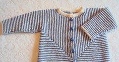 Trøjen her er også en af demsom ikke havde fået knapper i. Det er en model fra Drops, den er strikket i et stykke, jeg syntes det er en fi...