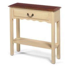 Wildon Home  Console Table Finish: Brown / Cream