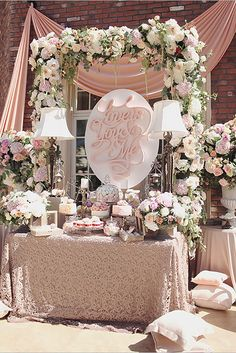 24 Vintage To Modern Wedding Dessert Table Ideas ❤ See more: http://www.weddingforward.com/wedding-dessert-table-ideas-vintage-modern/ #weddings #cake