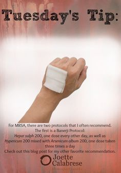 Get more tips for MRSA by visiting my blog. ~joettecalabrese.com | Tuesday's Tips | Pinterest