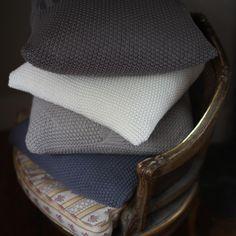 Moss Stitch Cushion Cover