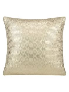 """Pillow Studio RUF Gold Diva Size: 16"""" x 16"""" or 40 cm x 40 cm LEATHERETTE PILLOW Handmade in Morocco: pillows, throws and bedspreads"""