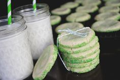 Lime swirled Icebox Cookies - great to make ahead of time and freeze for later!