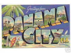 Greetings from  Panama City Fla. 50s-postcard by stevesobczuk, via Flickr
