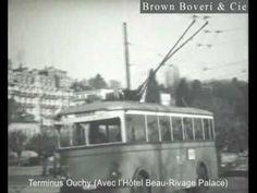 Lausanne / Le premier trolleybus de Suisse 1932 Lausanne, Switzerland, Bbc, Trains, Boats, Films, Sweet, Antique Pictures, Movies