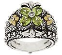 Barbara Bixby Sterling Silver & 18K Gold Gemstone Flower Ring - J319595 — QVC.com