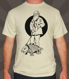 Aw man's best friend, pre-evolution.   - Professionally printed silkscreen - High-quality, 100% cotton tee. - Ships within 2 business days - Designed and printed in the USA