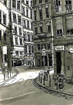 Depuis la place Croix-Paquet, Lyon - France by bruno molliere, via Flickr