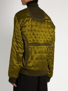 Maison Margiela Quilted satin bomber jacket
