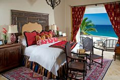 Cabo San Lucas, Mexico Spanish colonial style bedroom