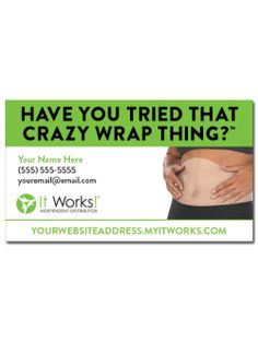 Crazy Wrap Thing Two-Sided Business Card