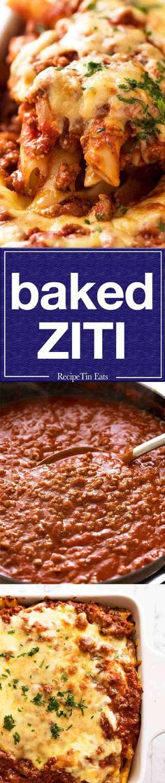 Ziti One word - EPIC! Baked ziti, amazing for dinnerOne word - EPIC! Baked ziti, amazing for dinner Pasta Dinners, Beef Recipes For Dinner, Casserole Recipes, Pasta Recipes, Cooking Recipes, Beef Dishes, Food Dishes, Italian Dishes, Italian Recipes