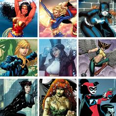 WOMEN OF THE DCU Pt. 1: Wonder Woman, Supergirl, Batgirl, Black Canary, Zatanna, Hawkgirl, Catwoman, Poison Ivy and Harley Quinn