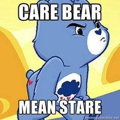 The nickname bear has been around since HS...and yes, even this bear has her bad days.