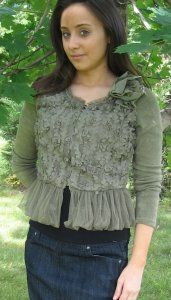 Tulle and Flower Cardigan - On sale for $39