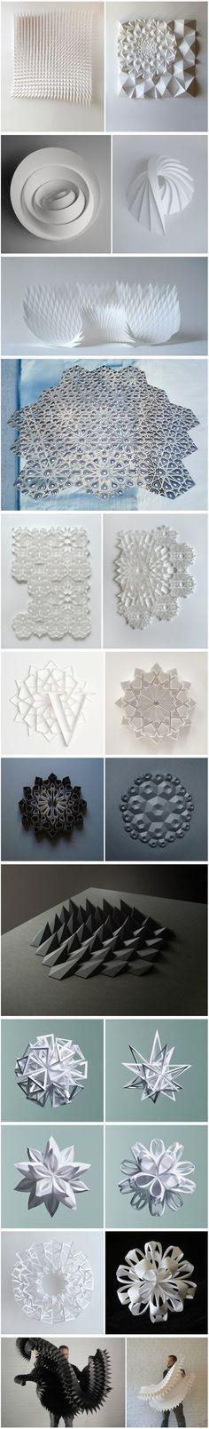 Geometric Paper Sculptures C'est toujours un plaisir de contempler les derniers travaux de Matt Shlian, qui intègre dans ses œuvres les sciences et les mathématiques.