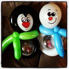 Christmas stuffed balloon buddies by Sparkles the clown