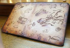 iPad Mini Leather Case with Stand & Chauvet & Lascaux Cave Theme by HarrismaLeatherGoods