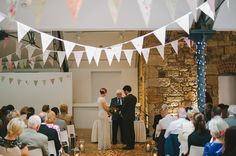 'Love In The Lighthouse' ~ Elisha by Temperley for an Urban Chic Style Wedding in Glasgow.  Tickety Boo Bunting's 'Vintage Rose Garden' Bunting on display :-)