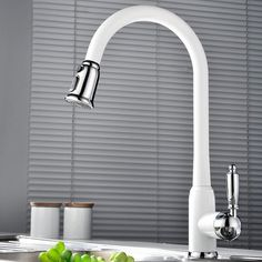 Kitchen Sink Faucets 4 Design White Porcelain Black Stainless Steel Swivel Pull Out Hose Chrome Polish Brass Deck Mixers Kitchen Basin, Black Kitchen Faucets, Pull Out Kitchen Faucet, Kitchen Pulls, Kitchen Mixer, Kitchen Fixtures, Bathroom Sink Faucets, Shower Faucet, Classical Kitchen